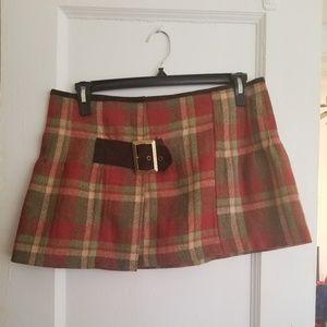🤑 Mini plaid skirt